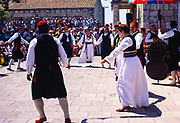 Folk dancing at Cilipi, Croatia, 1979