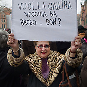 Venice February 13th 2011  Women rallied across Italy on Sunday, incensed by Prime Minister Silvio Berlusconi's sex scandal which they say has hurt their dignity and reinforced outdated gender stereotypes...HOW TO BUY THIS PICTURE: please contact us via e-mail at sales@xianpix.com or call our offices in Milan at (+39) 02 400 47313 or London   +44 (0)207 1939846 for prices and terms of copyright..