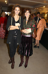 Left to right, MISS ROSE HANBURY and her mother MRS TIM HANBURY at auctioneers Sotheby's Summer party held at their showrooms in 34-35 New Bond Street, London W1 on 6th June 2005.<br /><br />NON EXCLUSIVE - WORLD RIGHTS