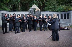 The British Humanist Choir performing at the Soirée in a Cemetery in Tower Hamlets.