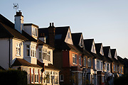 Autumn sunshine on Edwardian period homes in suburban south London, on 4th November 2020, in London, England.