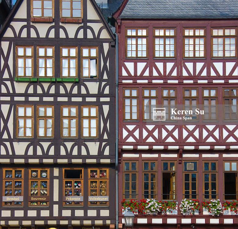 Houses on Romerberg Square, Frankfurt, Germany
