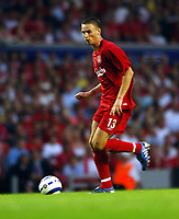 Anthony Le Tallec<br />Liverpool 2005/06<br />Liverpool V Total Network Soloutions (3-0) 13/07/05<br />UEFA Champions League Qualifier, 1st Round 1st Leg<br />Photo Robin Parker Fotosports International