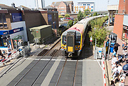 South West Trains Class 444 Siemens Desiro train, Poole, Dorset, England, UK