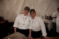 Wine and Crab weekend 2010 events including cippino feed and crab cake cook off.