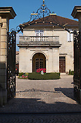 gate front court yard couvent des jacobins saint emilion bordeaux france