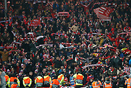 Atletico Madrid fans celebrate during the UEFA Champions League match at Anfield, Liverpool. Picture date: 11th March 2020. Picture credit should read: Darren Staples/Sportimage