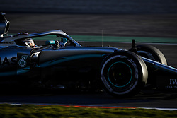 February 18, 2019 - Barcelona, Spain - HAMILTON Lewis (gbr), Mercedes AMG F1 GP W10 Hybrid EQ Power+, action during Formula 1 winter tests from February 18 to 21, 2019 at Barcelona, Spain - : FIA Formula One World Championship 2019, Test in Barcelona, (Credit Image: © Hoch Zwei via ZUMA Wire)