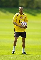 Photo: Richard Lane.<br />Arsenal Training Session. The Barclays Premiership. 11/05/2006.<br />Gael Clichy during training.