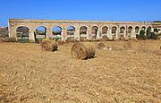 Aqueduct on the island of Gozo, Malta built between 1839 and 1843