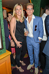 CHELSY DAVY and OLLIE PROUDLOCK at a party for the UK launch of Mr Boho held at Annabel's, 44 Berkeley Square, London on 19th May 2016.