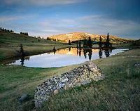 Louden Lake at sunset, Pasayten Wilderness of the North Cascades Washington USA