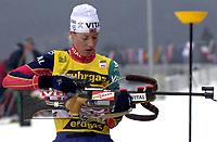Skiskyting, 12. desember 2003, Borghild Ouren (NOR), Norge Biathlon Norwegen<br /> Weltcup Hochfilzen t