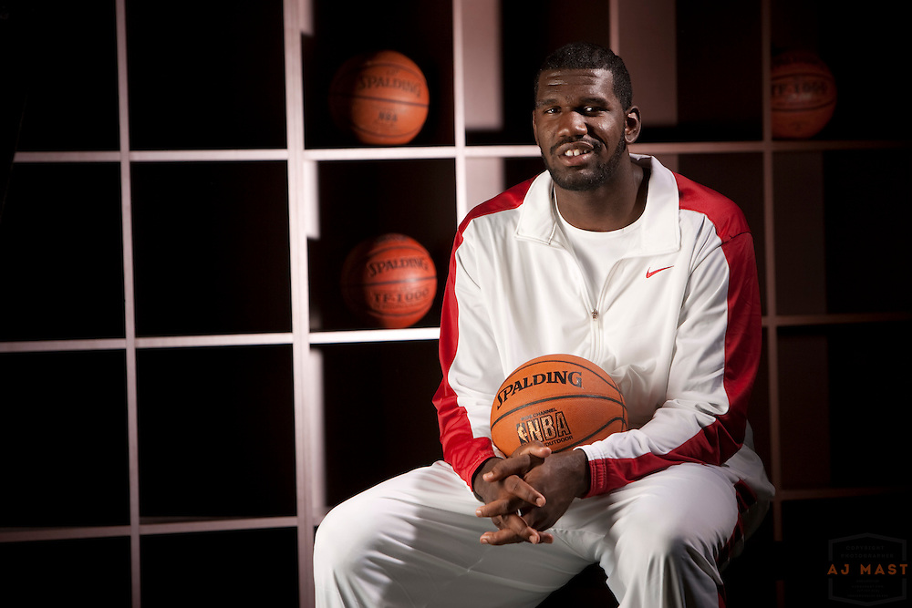 12 May 2008: Greg Oden poses for a portrait in Indianapolis.