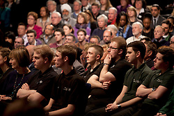 © Licensed to London News Pictures. 23/3/2013. Birmingham, UK. Labour Policy Forum at the ICC.Pictured, Jaguar Land Rover apprentices amongst the audience. Photo credit : Dave Warren/LNP