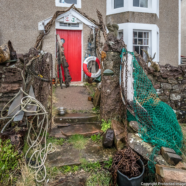 Shore Cottage, Portencross, Ayrshire, Scotland.
