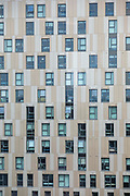 The windows of Trinity View, student accommodation managed by Prime Student Living for students living in central Coventry on the 28th of April 2021, Coventry, United Kingdom. Coventry has been nominated the UK City of Culture for 2021.