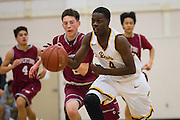 Mission Bears guard Tyrese Johnson (4) pushes the ball down the court during the Fukushima Invitational at Independence High School in San Jose, Calif., on December 7, 2016. (Stan Olszewski/Special to S.F. Examiner)