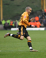 Photo: Rich Eaton.<br /> <br /> Wolverhampton Wanderers v Leeds United. Coca Cola Championship. 24/02/2007. Michael Kightly celebrates scoring the only goal of the game for Wolves