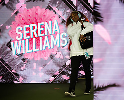March 8, 2019 - Indian Wells, USA - Serena Williams of the United States on her way onto the court for her second-round match at the 2019 BNP Paribas Open WTA Premier Mandatory tennis tournament (Credit Image: © AFP7 via ZUMA Wire)