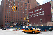 Giant sign for Louis Provenzano Garage and Service Station on 24 Leonard St, just off West Broadway on 20th May 2007 in New York City, United States.