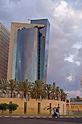 Israel, Tel Aviv Modern highrise building in downtown