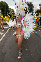 © Licensed to London News Pictures. 29/08/2011. London, UK. Day 2 of the 2011 notting Hill Carnival today (29/08/2011) the second largest street festival in the world after the Rio Carnival held in Brazil . Photo credit: Ben Cawthra/LNP