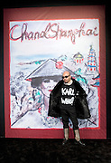 A Chinese guest is wearing a T-shirt that says 'Karl Who?' at Chanel Fashion Show in Shanghai, on December 3, 2009. Photo by Lucas Schifres/Pictobank
