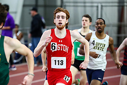 mens 800 meters, heat 4, BU, Thomas Quinn<br /> Boston University Scarlet and White<br /> Indoor Track & Field, Bruce LeHane