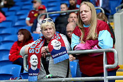Burnley fans in the stands before the match begins