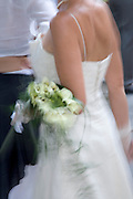 bride striding to the altar