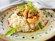 Classic risotto with prawns, mussels