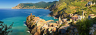 Photo of colorful fishing housesthe fishing port of Vernazza at sunrise, Cinque Terre National Park, Ligurian Riviera, Italy. A UNESCO World Heritage Site. .<br /> <br /> Visit our ITALY HISTORIC PLACES PHOTO COLLECTION for more   photos of Italy to download or buy as prints https://funkystock.photoshelter.com/gallery-collection/2b-Pictures-Images-of-Italy-Photos-of-Italian-Historic-Landmark-Sites/C0000qxA2zGFjd_k