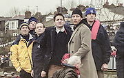 London, Great Britain, <br /> left to right. Sean BOWDEN, Derek CLARK, Dan TOPOLSKI, Andrew LINDSAY, Luka GRUBER and Terry DILLION<br /> 147th Oxford vs Cambridge Varsity Boat Race, Over the Championship Course, Putney To Mortlake. 24.03.2001<br /> <br /> [Mandatory Credit: Peter SPURRIER/Intersport Images] [Mandatory Credit; Peter SPURRIER/Intersport Images]<br /> <br /> 20010324 University Boat Race, Putney to Mortlake, London, Great Britain.