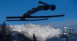 06.01.2015, Paul Ausserleitner Schanze, Bischofshofen, AUT, FIS Ski Sprung Weltcup, 63. Vierschanzentournee, Probedurchgang, im Bild Jernej Damjan (SLO) // Jernej Damjan of Slovenia during Trial Jump of 63rd Four Hills Tournament of FIS Ski Jumping World Cup at the Paul Ausserleitner Schanze, Bischofshofen, Austria on 2015/01/06. EXPA Pictures © 2015, PhotoCredit: EXPA/ JFK