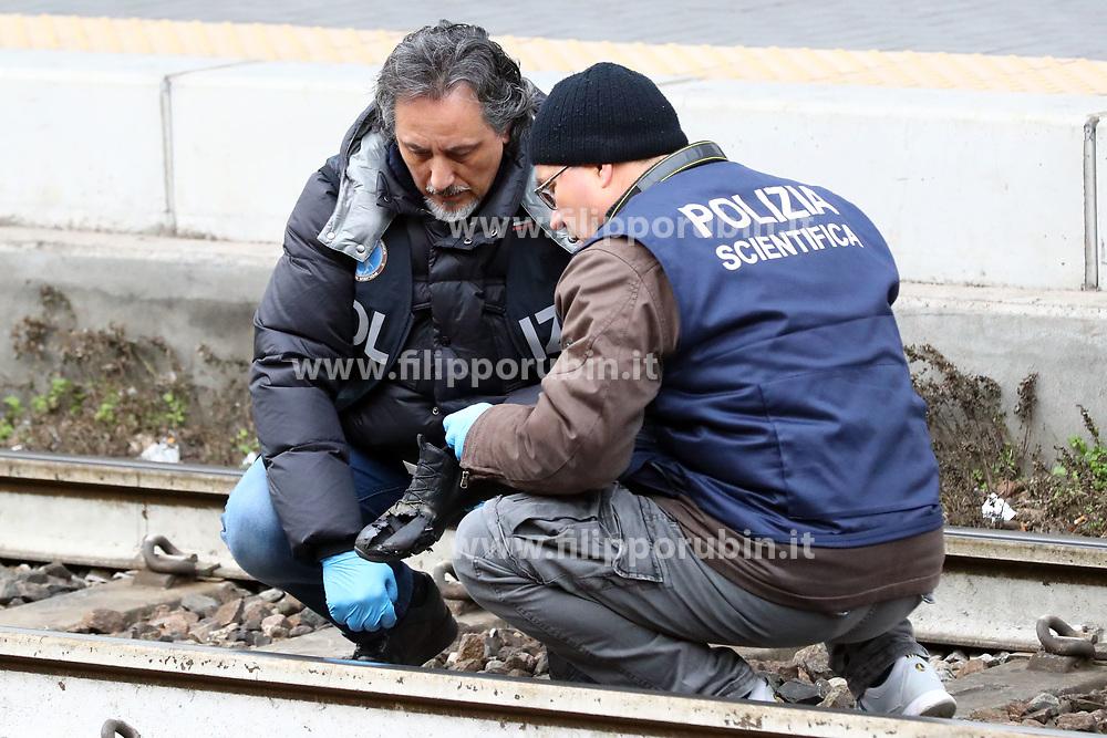 RILIEVI POLIZIA SCIENTIFICA<br /> INCIDENTE MORTALE DONNA INVESTITA DA TRENO FRECCIAROSSA IN STAZIONE A FERRARA