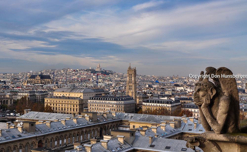 Notre Dame, Notre Dame Gargoyle, Paris, Paris street scene, Sacré-Cœur, paris gargoyle