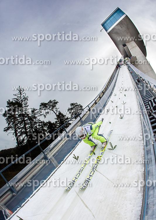 03.01.2014, Bergisel Schanze, Innsbruck, AUT, FIS Ski Sprung Weltcup, 62. Vierschanzentournee, Training, im Bild Stefan Kraft (AUT) // Stefan Kraft (AUT) during practice Jump of 62nd Four Hills Tournament of FIS Ski Jumping World Cup at the Bergisel Schanze, Innsbruck, <br /> Austria on 2014/01/03. EXPA Pictures © 2014, PhotoCredit: EXPA/ JFK
