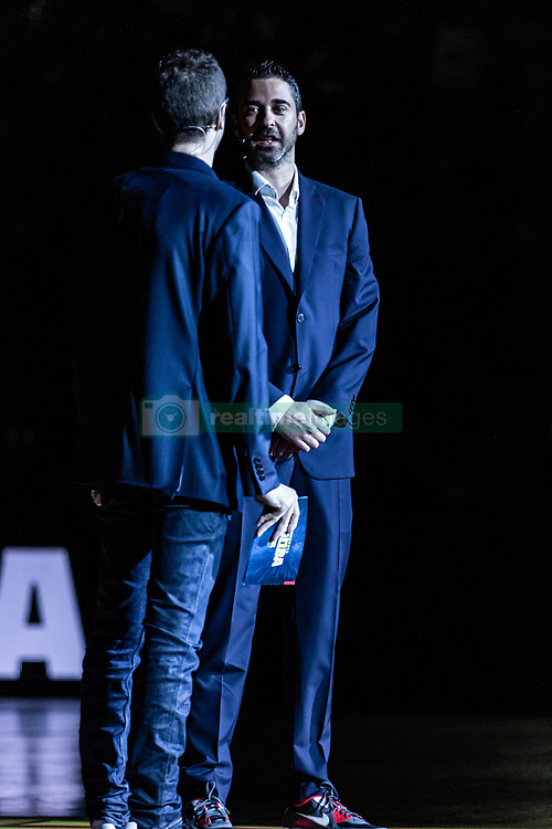 March 1, 2019 - Barcelona, Barcelona, Spain - Tribute and withdrawal of shirt with the number # 11 of Juan Carlos Navarro, who wore during two decades that are already history of the club, Spanish and European basketball. Palau Blaugrana, in Barcelona, Spain. March 01, 2019. (Credit Image: © AFP7 via ZUMA Wire)