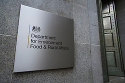 © London News Pictures. 09/02/2013 . London, UK.  The Department for the Environment, Food and Rural Affairs in London where Secretary of State for Environment, Food and Rural Affairs, OWEN PATERSON  is due to meet  with representatives of the FSA, as well as food retailers and suppliers, to discuss the unfolding scandal over horsemeat being found in various products.. Photo credit : Ben Cawthra/LNP