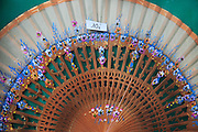 Souvenir Spanish hand fan on sale for 10 euros, city of Valencia, Spain