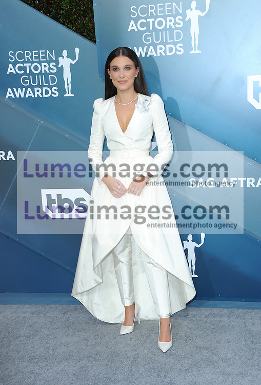 Millie Bobby Brown at the 26th Annual Screen Actors Guild Awards held at the Shrine Auditorium in Los Angeles, USA on January 19, 2020.