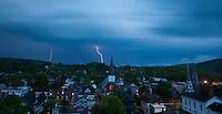 lightning storm over Montpelier, Vermont
