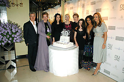 Left to right, JOHN FRIEDA, EMMA THOMPSON, NIGELLA LAWSON, ANNIE LENNOX, JUSTINE PICARDIE founder of the Lavender Trust, her niece LOLA SEATON,THANDIE NEWTON and LUCY YEOMANS at the 10th Anniversary Party of the Lavender Trust, Breast Cancer charity held at Claridge's, Brook Street, London on 1st May 2008.<br />
