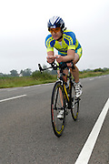 UK, Chelmsford, 28 June 2009: NICHOLAS HAY (V) VERULAM.C.C. completed the E9 / 25 course in 1 hour 2 mins 00 secs. Images from the Chelmer Cycle Club's Open Time Trial Event on the E9 / 25 course. Photo by Peter Horrell / http://peterhorrell.com .
