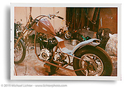 Arlen Ness' original Knucklehead after he first customized it. San Lorenzo, CA. ©1964 Ness Family Archive Photo