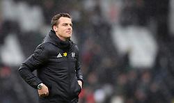 Fulham interim manager Scott Parker reacts after the final whistle during the Premier League match at Craven Cottage, London.