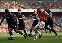 Photo: Tony Oudot.<br /> Arsenal v Bolton Wanderers. The Barclays Premiership. 14/04/2007.<br /> Freddie Ljungberg of Arsenal breaks through the Bolton defence