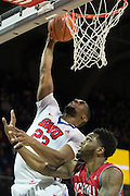DALLAS, TX - DECEMBER 16: Jordan Tolbert #23 of the SMU Mustangs dunks the ball against the Nicholls State Colonels on December 16, 2015 at Moody Coliseum in Dallas, Texas.  (Photo by Cooper Neill/Getty Images) *** Local Caption *** Jordan Tolbert
