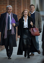 © Licensed to London News Pictures. 28/11/2016. London, UK. Suzanne Evans arrives at the Emmanuel Centre in Westminster London, with Patrick O'Flynn (L) - before Paul Nuttall was announced as the new leader of the UK Independence Party (UKIP). Photo credit: Peter Macdiarmid/LNP